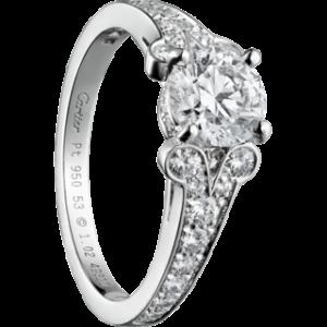engagement ring settings bague de fiancaille cartier. Black Bedroom Furniture Sets. Home Design Ideas
